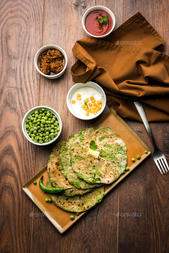 Peas Paratha - Stock Photo - Images