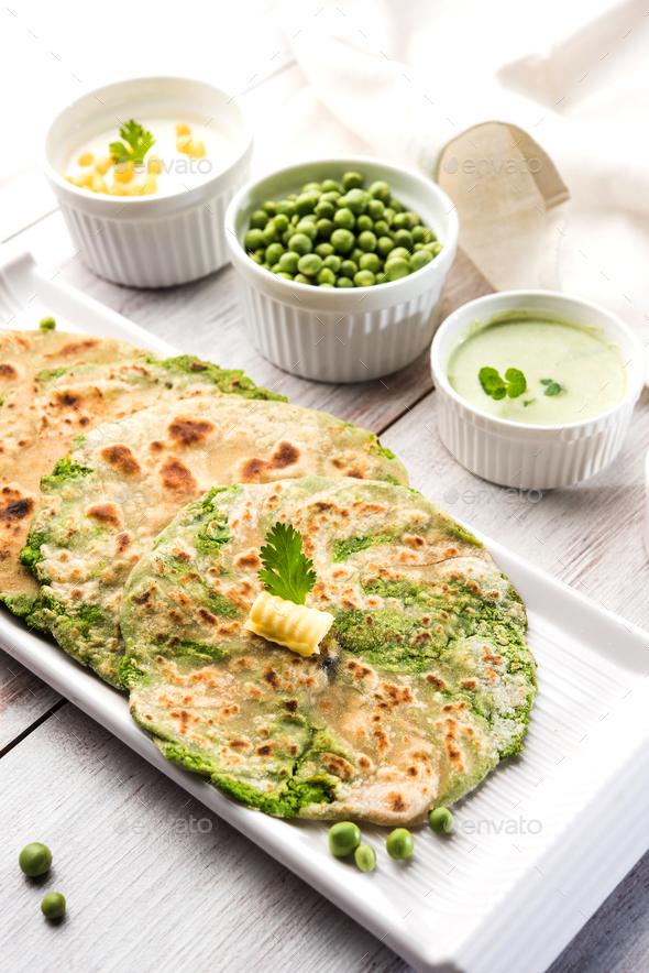 Peas Paratha - Stock Photo - Images