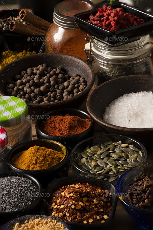 Different kind of Spices - Stock Photo - Images