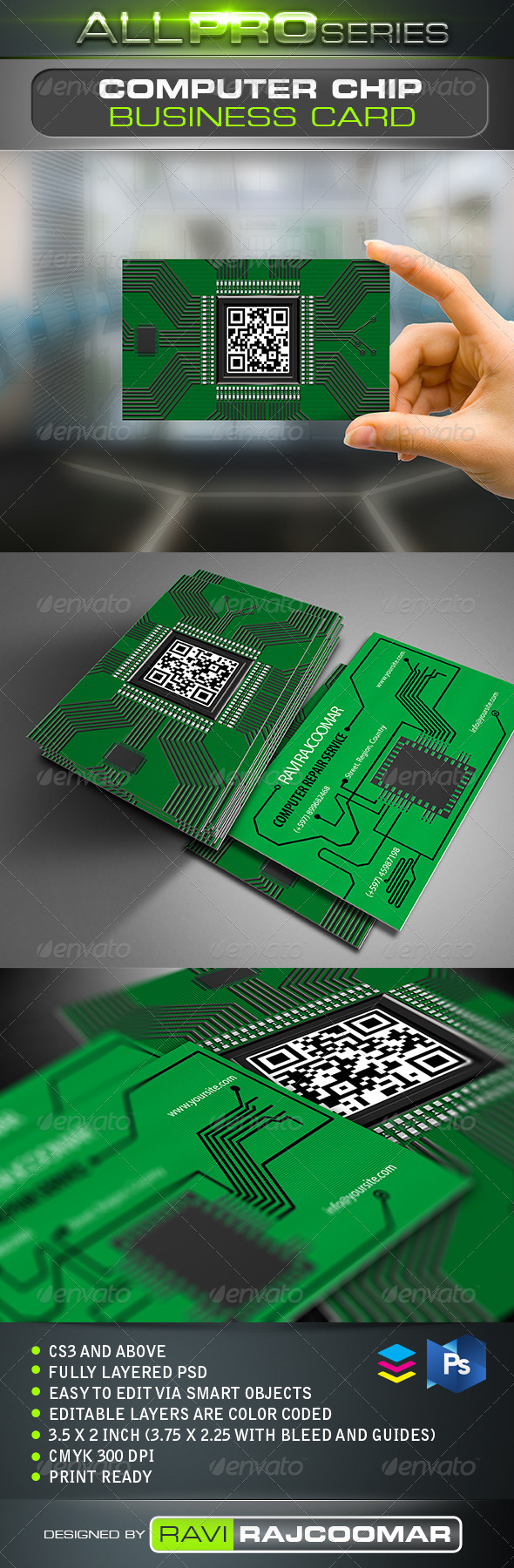 Circuit Board Business Card by ravi-rajcoomar | GraphicRiver