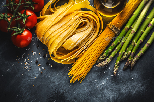 Cooking concept with ingredients for cooking - Stock Photo - Images