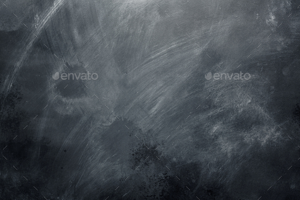 School blackboard background with copy space - Stock Photo - Images