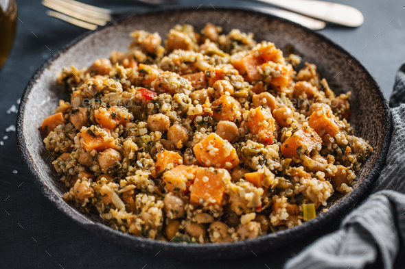 Quinoa salad with vegetables - Stock Photo - Images