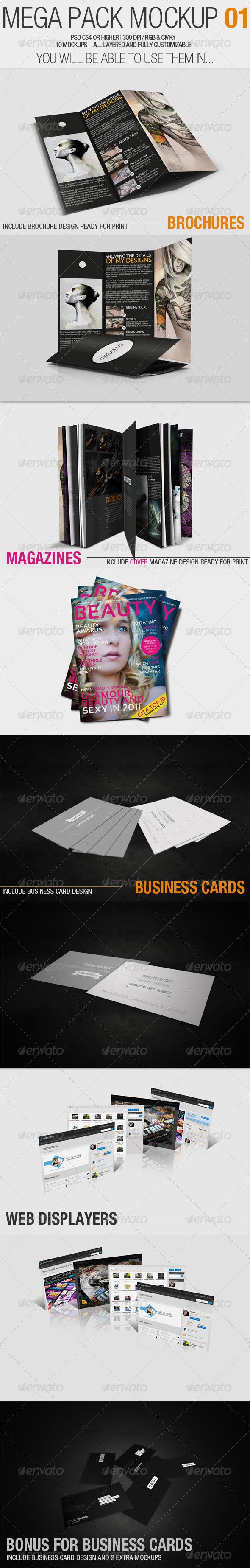 Mega Pack Mock-Up #1 - Miscellaneous Print