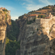Old Monastery on the top of rock in Meteora, Thessaly, Greece - PhotoDune Item for Sale