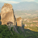 Panoramic view of rocks and monastery at Meteora in sunrise, Trikala region, Greece - PhotoDune Item for Sale