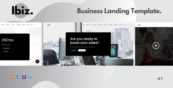 Ibiz — A Clean Business Landing Template