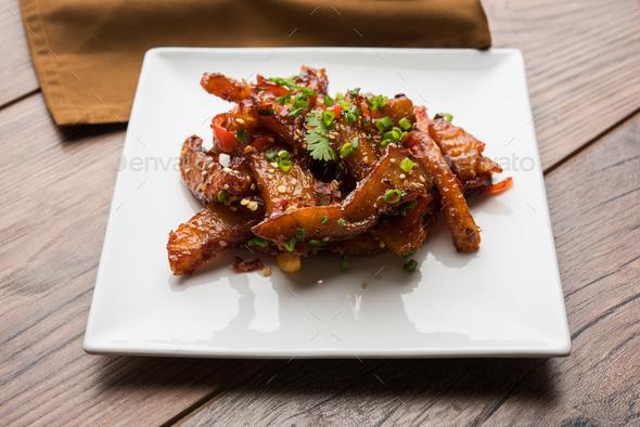 Honey Chilli Potato Wedges - Stock Photo - Images