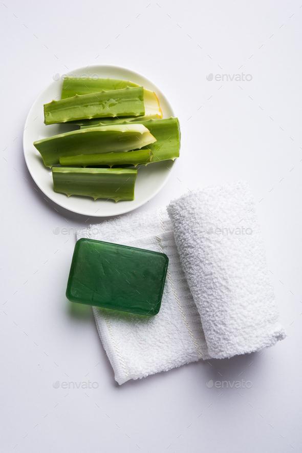 Aloe Vera Soap - Stock Photo - Images