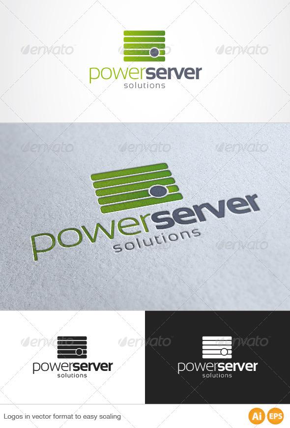 Green Server Logo - Symbols Logo Templates