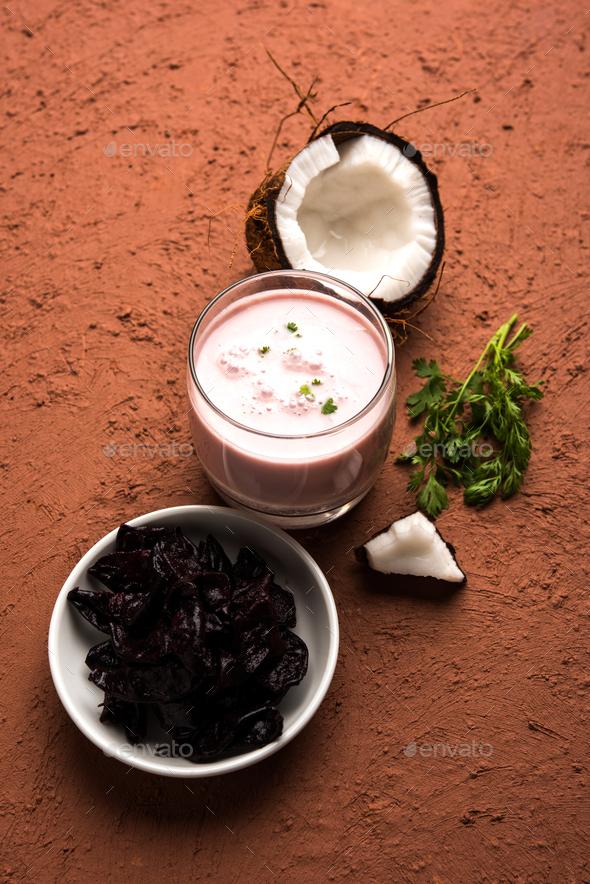 Solkadhi OR Kokum Curry - Stock Photo - Images
