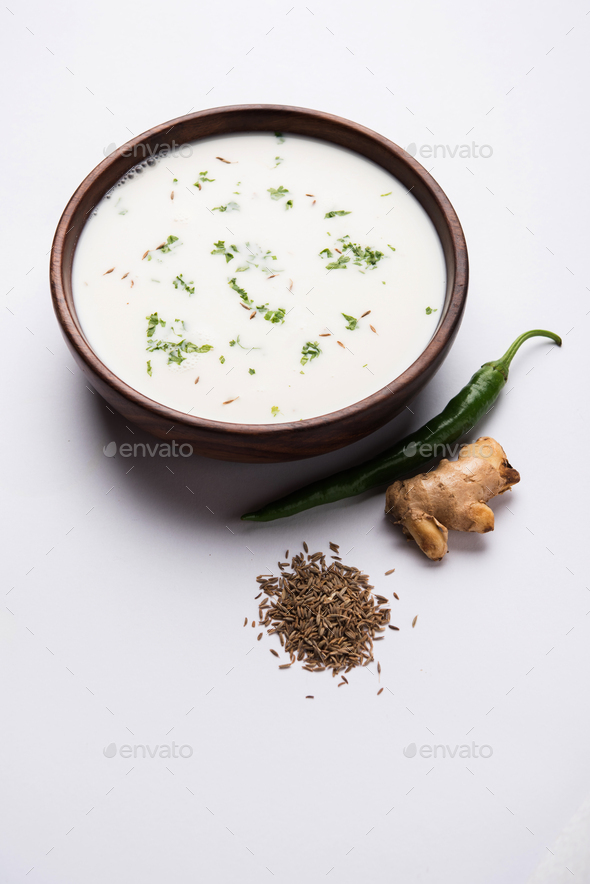Spiced Buttermilk or Chaas - Stock Photo - Images