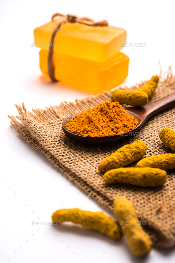 Turmeric Soap - Stock Photo - Images
