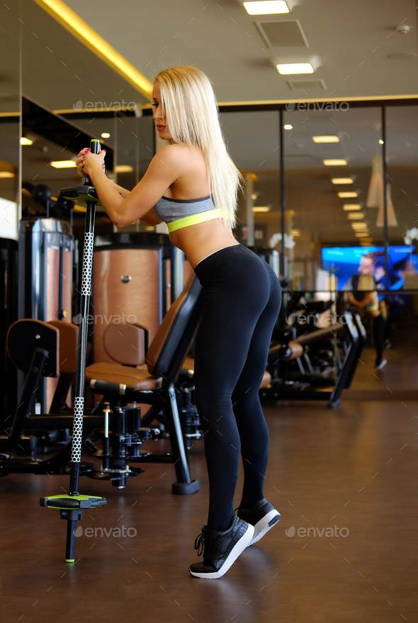 Blond fitness model - Stock Photo - Images