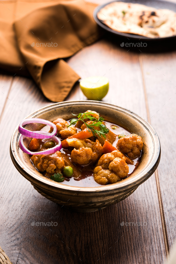 Aloo Gobi Mutter Curry - Stock Photo - Images