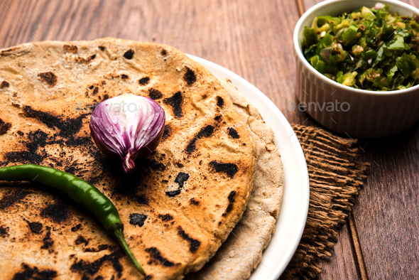 Bhakri or Indian Flat Bread - Stock Photo - Images