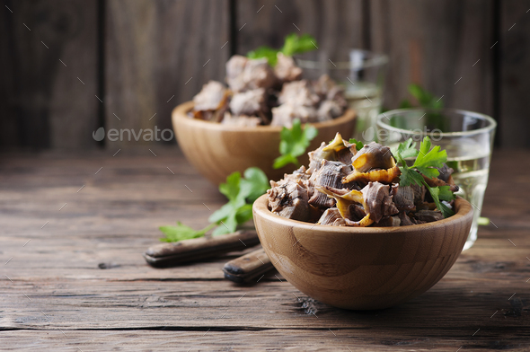 Sardinian traditional dish of murex brandaris - Stock Photo - Images
