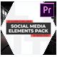 Social Media Elements Pack - Premiere Pro - VideoHive Item for Sale