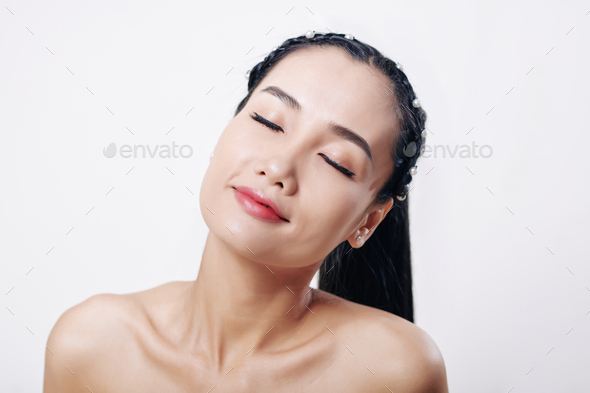 Attractive smiling woman - Stock Photo - Images