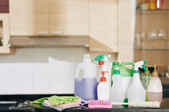 Set for house cleaning - Stock Photo - Images