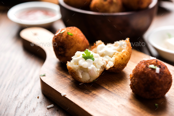 Potato Cheese Balls - Stock Photo - Images