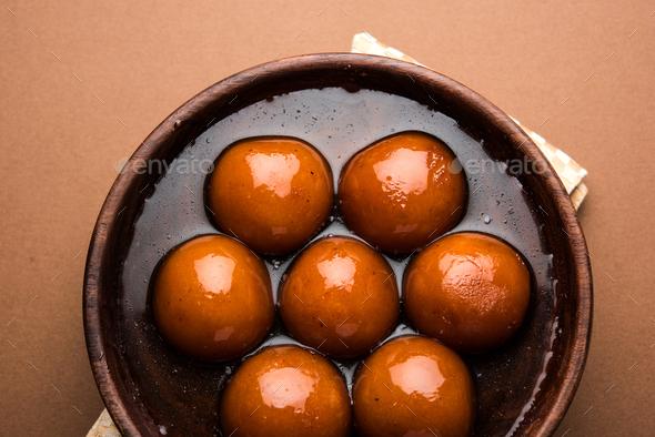 Gulab Jamun - Stock Photo - Images