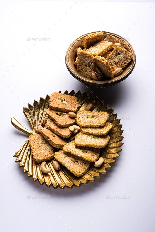 Gajak Or Til Papdi - Stock Photo - Images