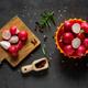 red radish on grey backgrounbd - PhotoDune Item for Sale