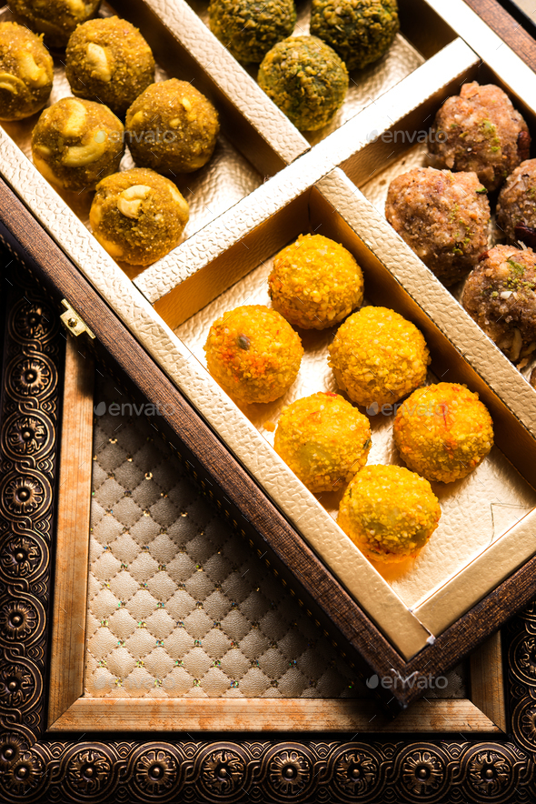 Dry Fruits Ladoo - Stock Photo - Images