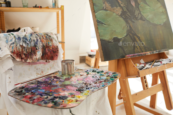 Art Studio Background - Stock Photo - Images