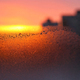 Background with ice, morning sunlight and silhouettes of houses - PhotoDune Item for Sale