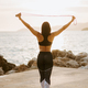 sporty woman posing on beach - PhotoDune Item for Sale