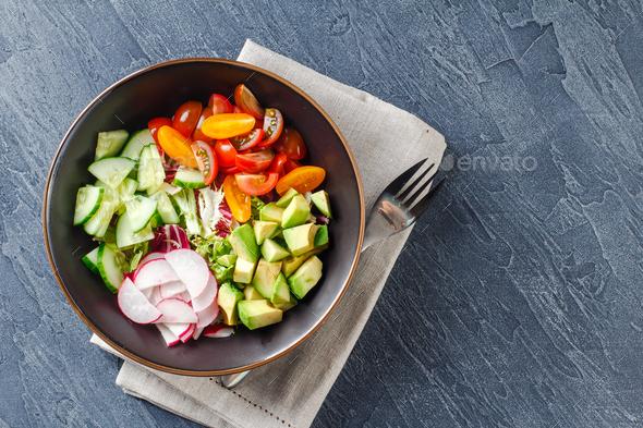 Vegan buddha bowl. Healthy vegetarian salad - Stock Photo - Images