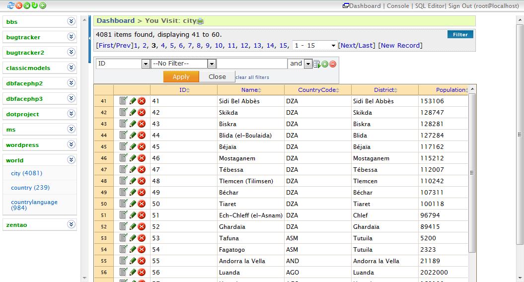 MySQL Database Navigation and Pagination by tmworks ...