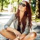 Happy smiling young woman in sunglasses. - PhotoDune Item for Sale
