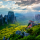 Sunset over monasteries of Meteora - PhotoDune Item for Sale