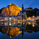 Night view of Dinant town, Belgium - PhotoDune Item for Sale