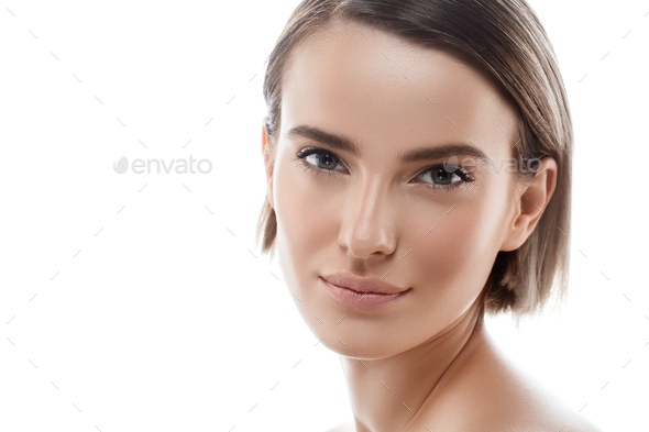 Clean fresh skin female beauty - Stock Photo - Images