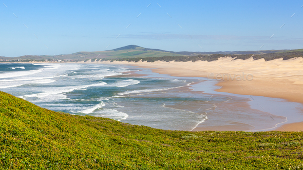 The Beach at Boknes in South Africa - Stock Photo - Images