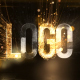 Glowing Particals Logo Reveal 36 : Golden Particals 12 - VideoHive Item for Sale
