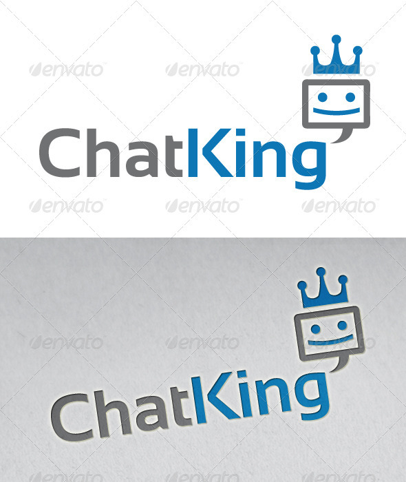 Chat King Logo - Symbols Logo Templates