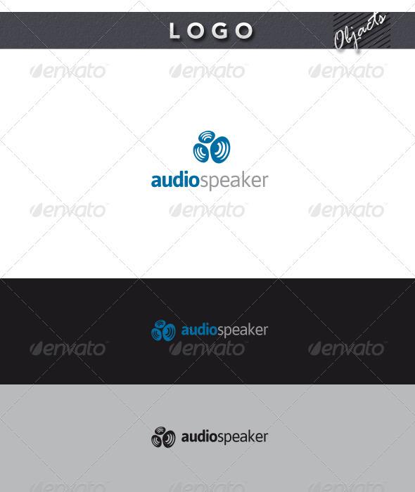 Audio Speaker Logo - Objects Logo Templates
