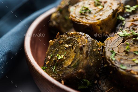 Patra or Patrode or Alu Vadi - Stock Photo - Images