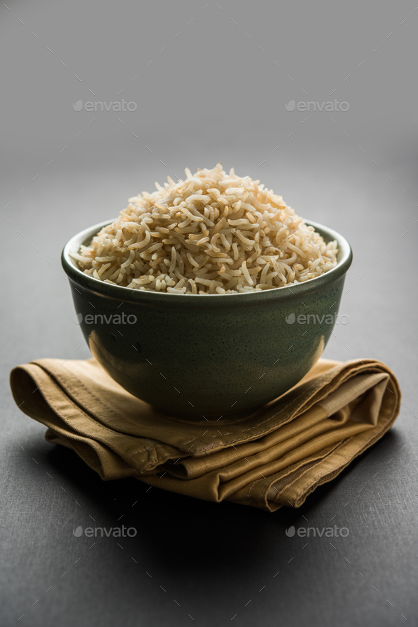 Cooked Brown Basmati Rice - Stock Photo - Images