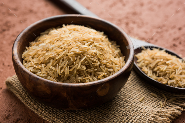 Raw Brown Rice - Stock Photo - Images