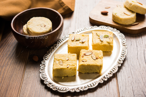 Soan Papdi or Patisa - Stock Photo - Images