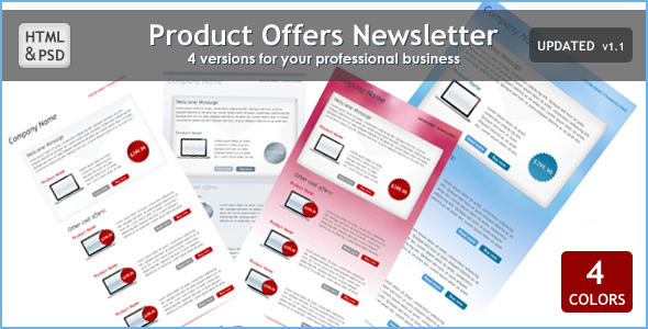 Product Offers Newsletter - Newsletters Email Templates