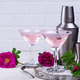 Pink martini cocktail with rose syrup - PhotoDune Item for Sale