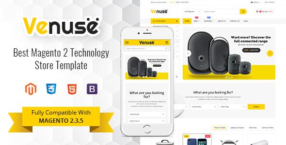 Venuse – Responsive Hitech/Digital Magento 2 Store Theme