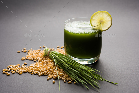 Wheat Grass Juice - Stock Photo - Images